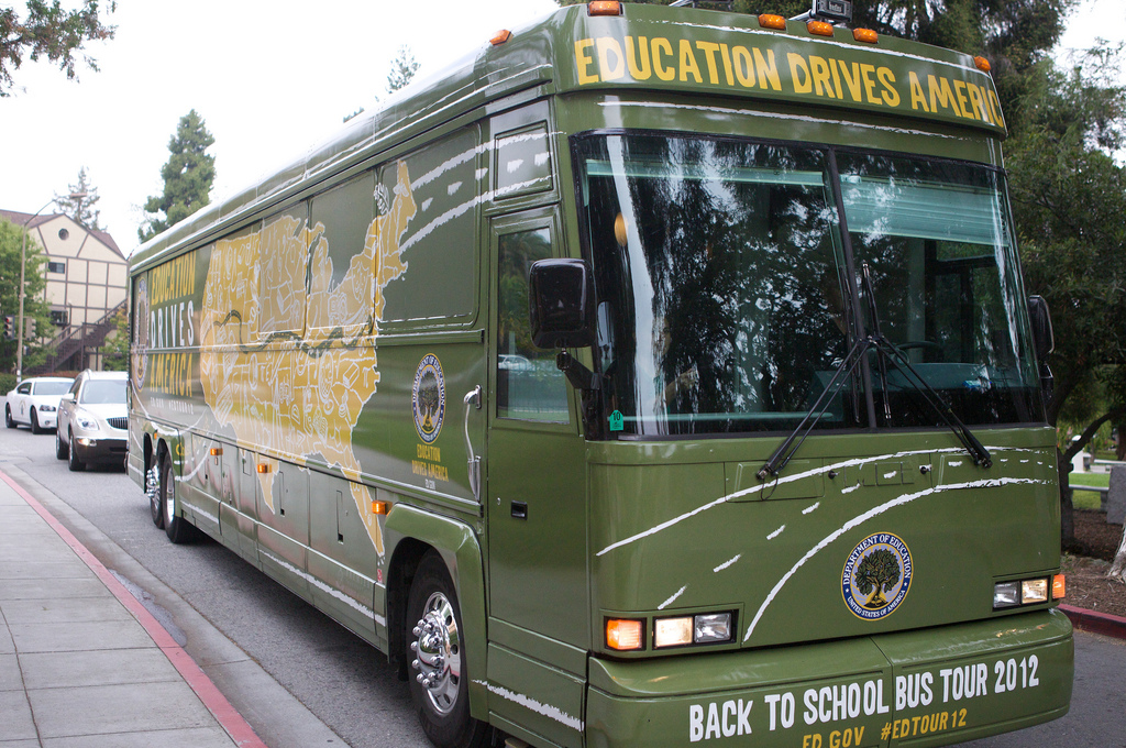 "Education Secretary Duncan's ""Back-to-School"" Bus"